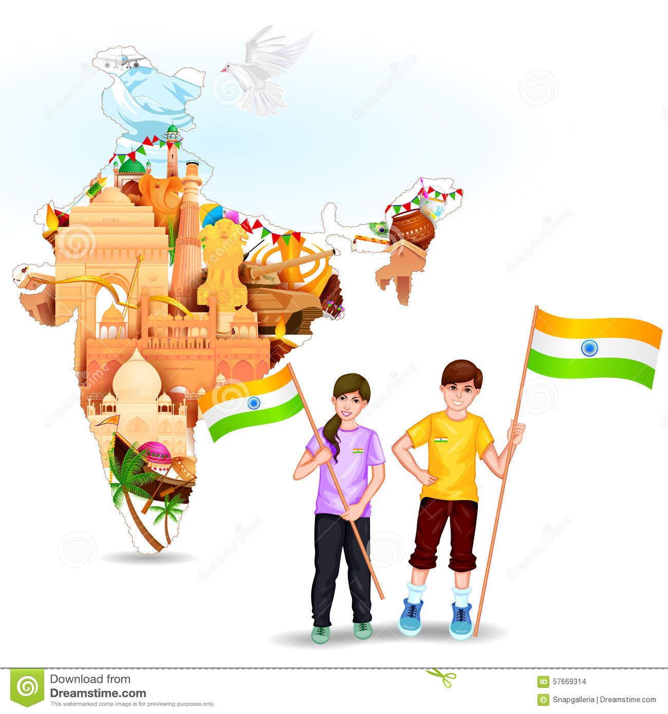 Children India School Stock Illustrations.