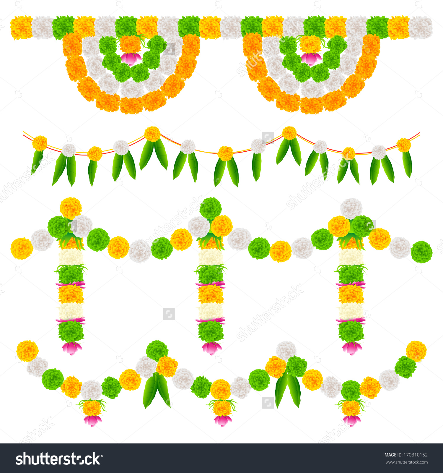 Indian flower clipart clipground illustration of tri color flower arrangement for india festival decoration indian wedding clipart junglespirit Choice Image