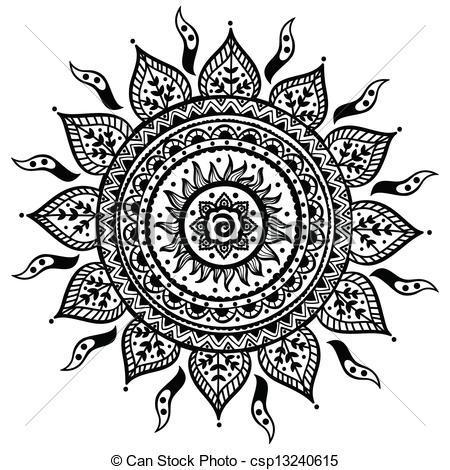 Vector Clip Art of Beautiful Indian ornament.