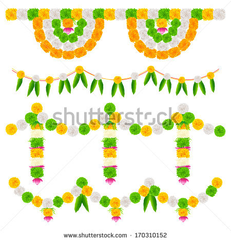 Indian Flower Garland Stock Images, Royalty.