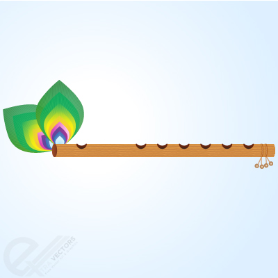 Indian flute clipart.