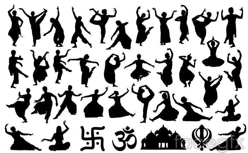 Image result for india folk dance silhouettes.