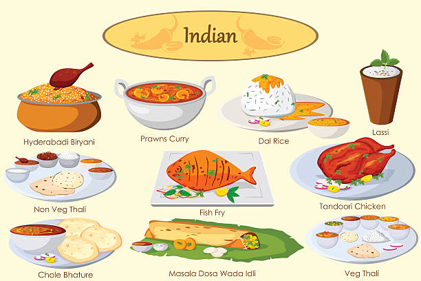 Best Indian Food Illustrations, Royalty.