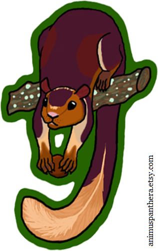 Indian giant squirrel clipart #16