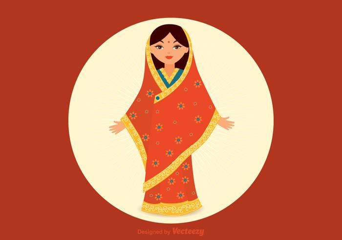 Free Indian Girl Vector.