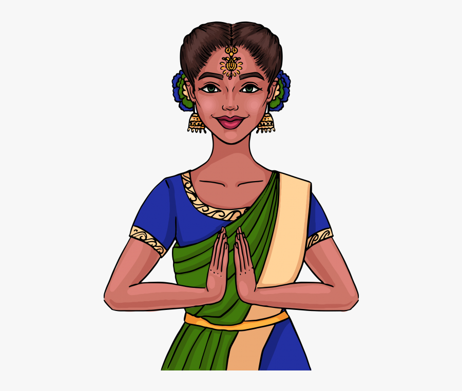 Indian Girl Clipart Png Image Free Download Searchpng.