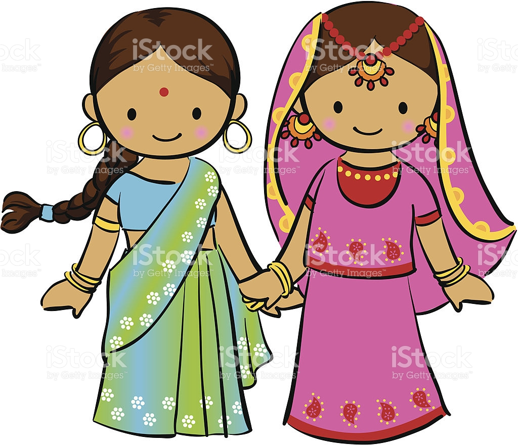 Indian Girl Child Clipart.