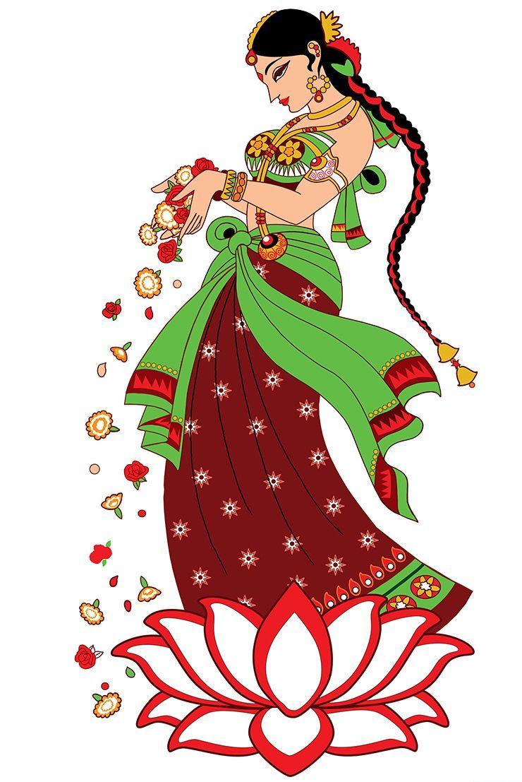 Illustrator: Smita Upadhye Digital Illustration: Indian lady.