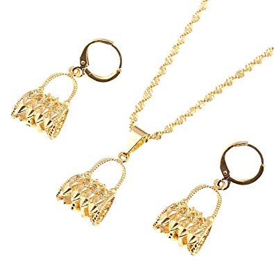 Buy Papua Guinea PNG Necklace Pendant Earrings Set African Women Bag.