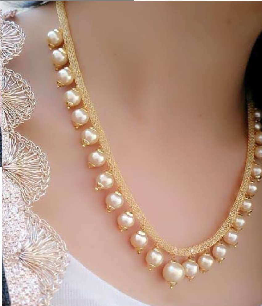 Darshini Designs Alloy Golden Collar Traditional Gold Plated Necklaces Set.