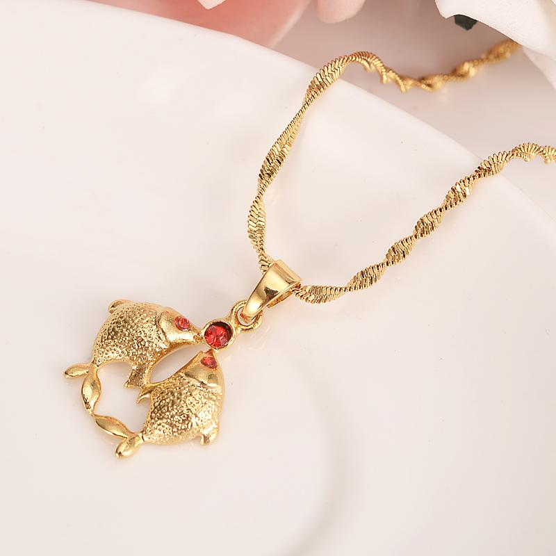 2019 Gold Dubai India PNG Cz Red Fish Dangle Earrings Necklace Jewelry Sets  For Women Girls Wedding Bridal Jewelry Accessories Gifts From Nyk8,.