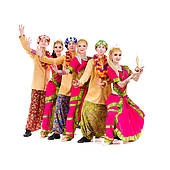 Indian Group Dance Clipart.