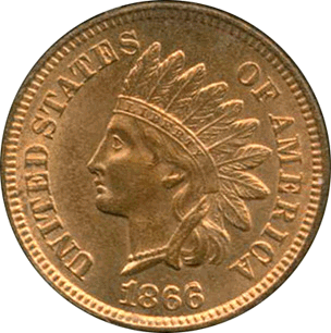 1866 Indian Head Cent Type 3, Bronze Obv.png.