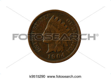 Stock Photography of Indian head penny k9515290.