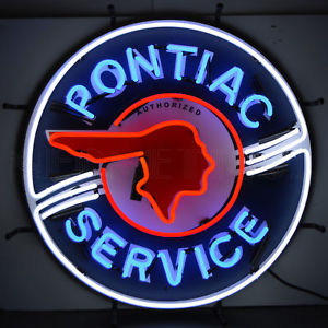 Details about Authorized Pontiac Service Neon Sign.