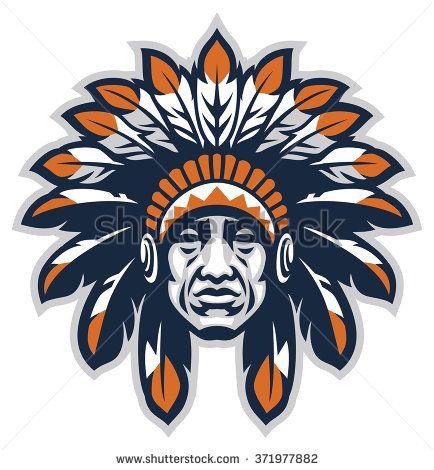 Indian head mascot.