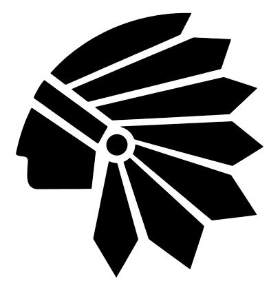 indian chief head silhouette.