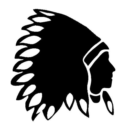 silhouette indian.