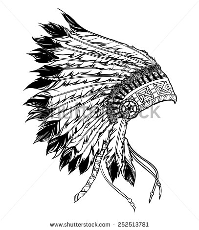 Indian Headdress Stock Images, Royalty.