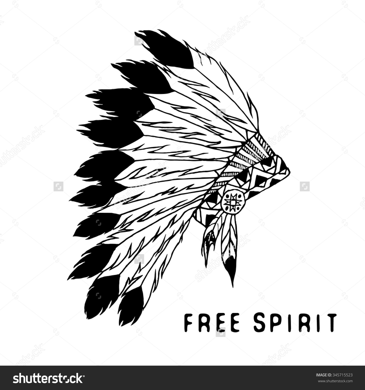 Similiar Black And White Indian Headdress Clip Art Keywords.