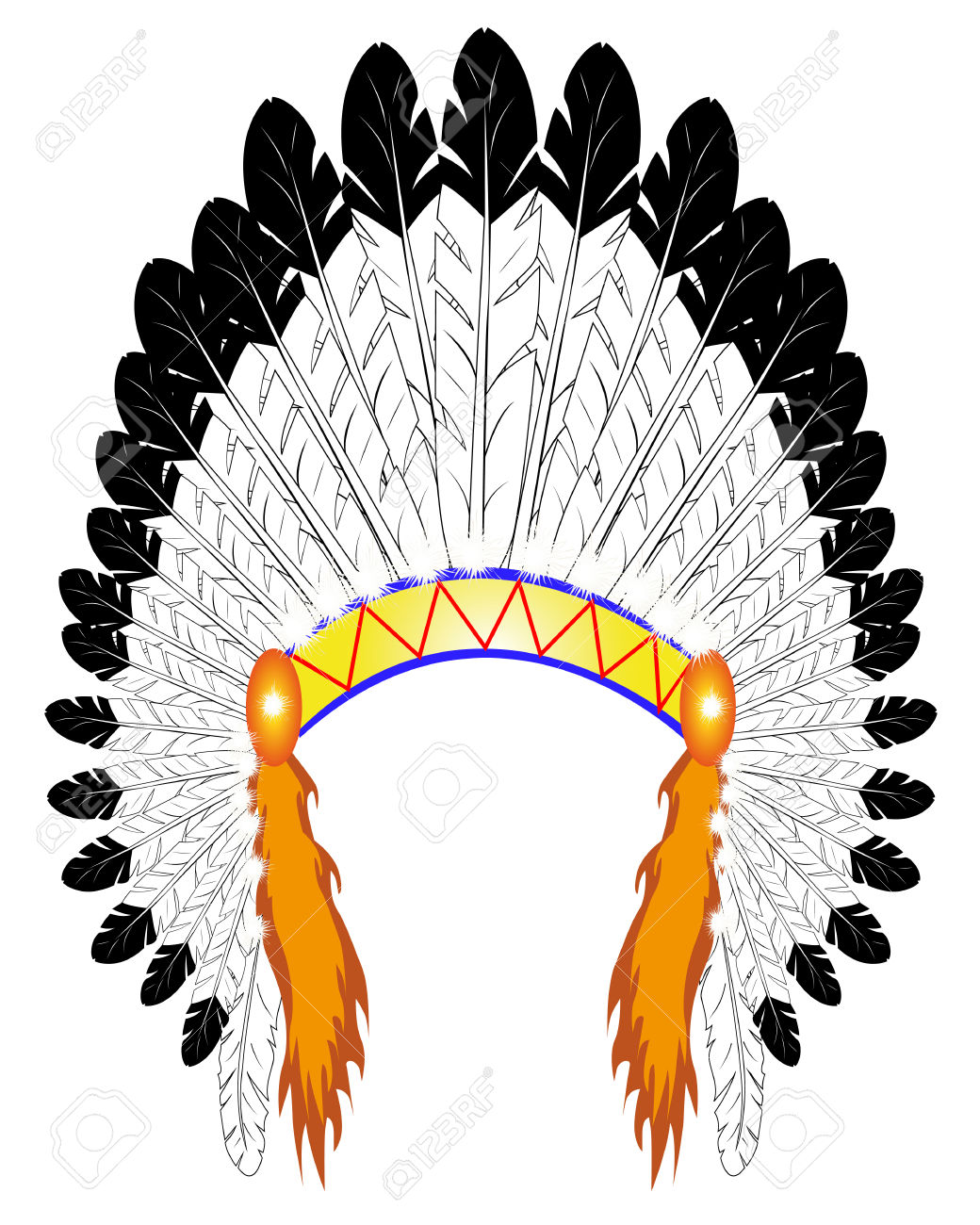 1,791 Indian Headdress Cliparts, Stock Vector And Royalty Free.