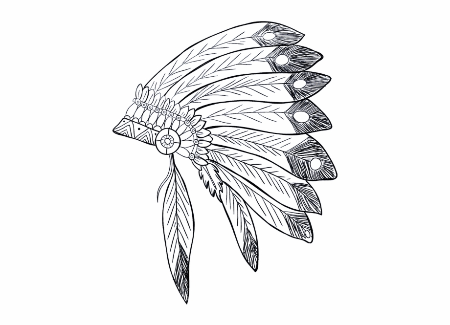 Indian Native American Tribe Feathers Chief.