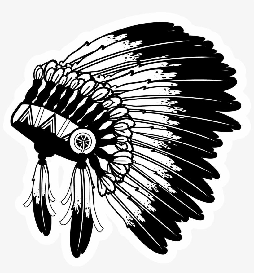 Native American Headdress Illustration.