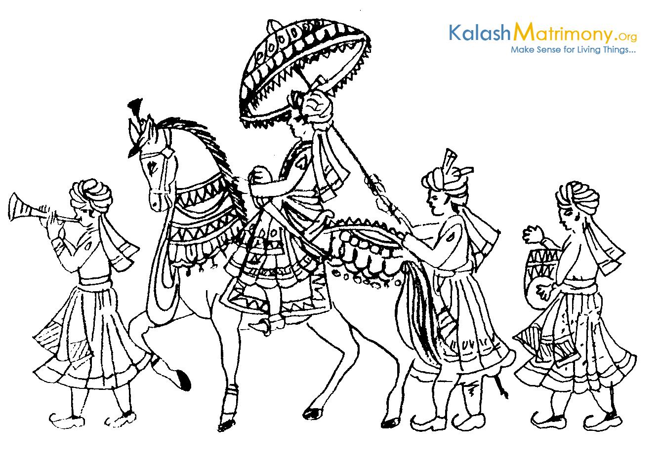 Indian Hindu Wedding Clipart.