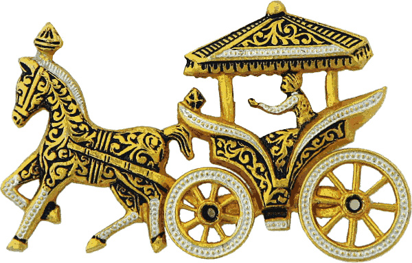horse carriage gold jewelery.