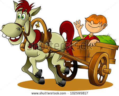 Horse Cart Stock Images, Royalty.