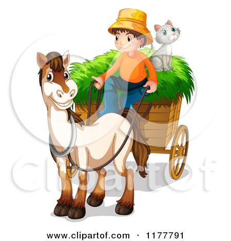 Indian Horse Cart Clipart.