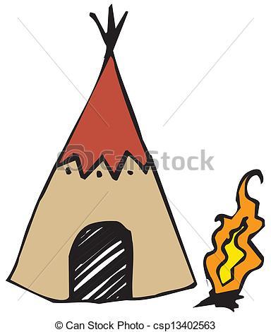 Clip Art Vector of American Indian wigwam csp13402563.