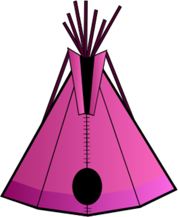 Indian tent vector clip art.
