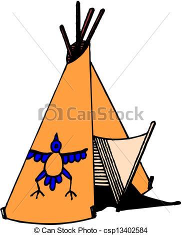 Vector of American Indian wigwam csp13402584.