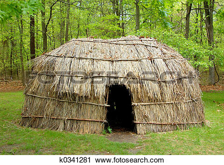 Stock Photography of Indian Hut k0341281.