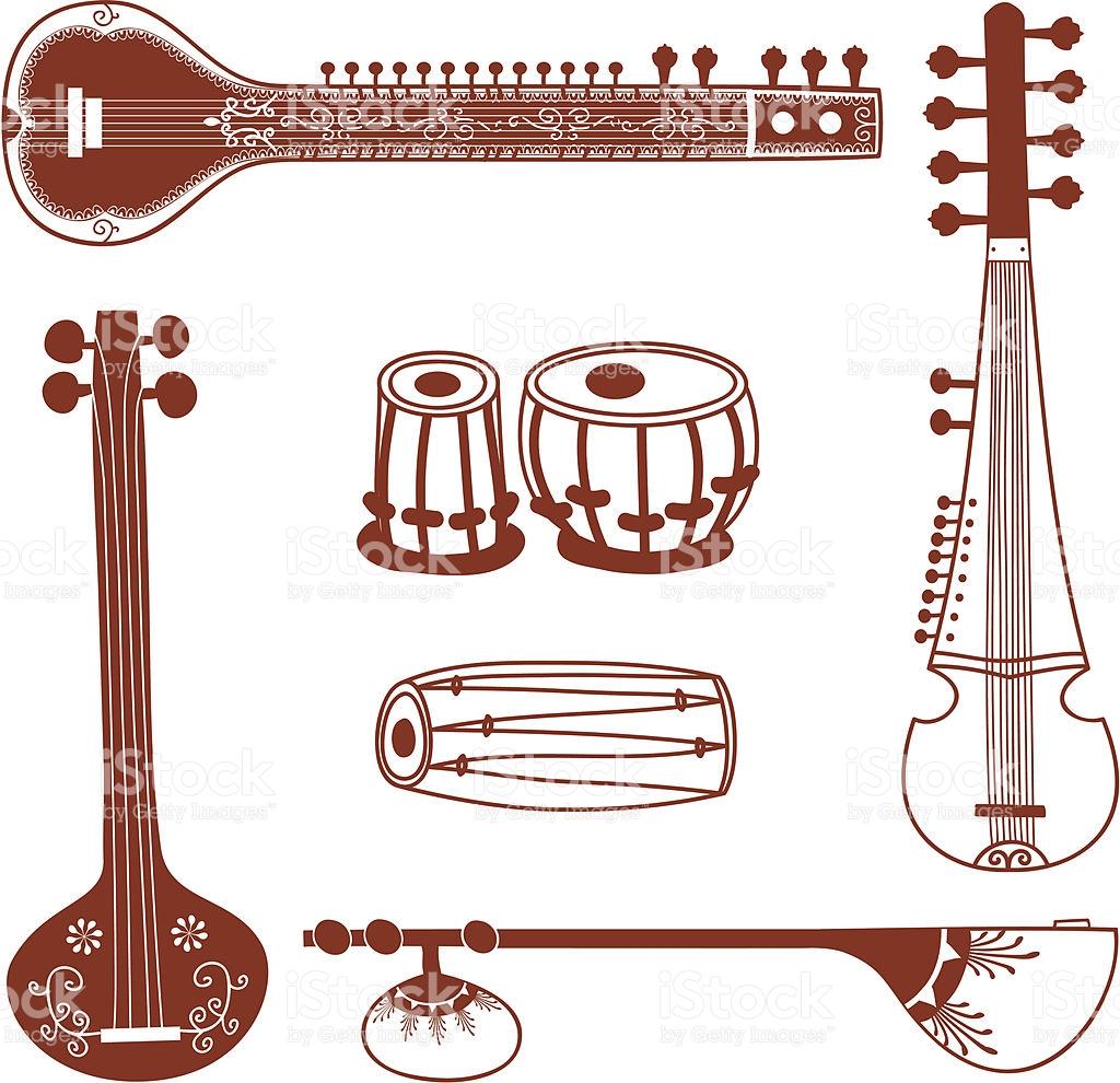 Mehndi Indian Instruments stock vector art 165050868.