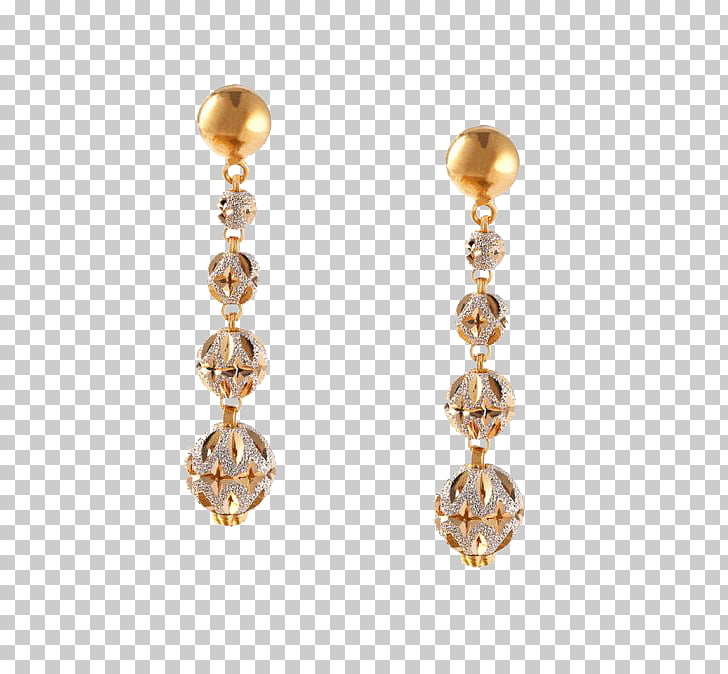 Earring Jewellery Gold Carat, Indian jewellery PNG clipart.