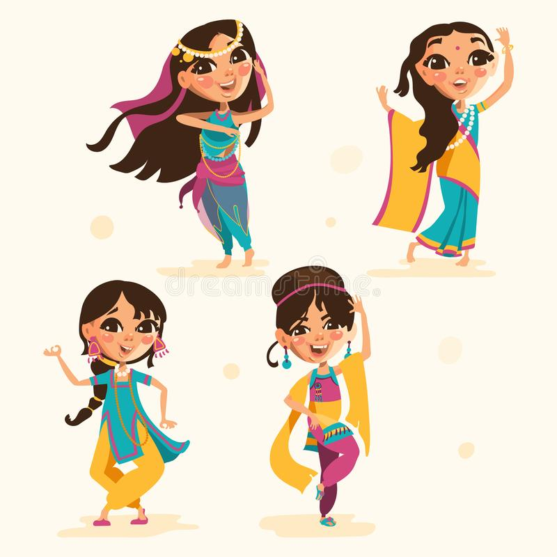 Indian Kids Stock Illustrations.