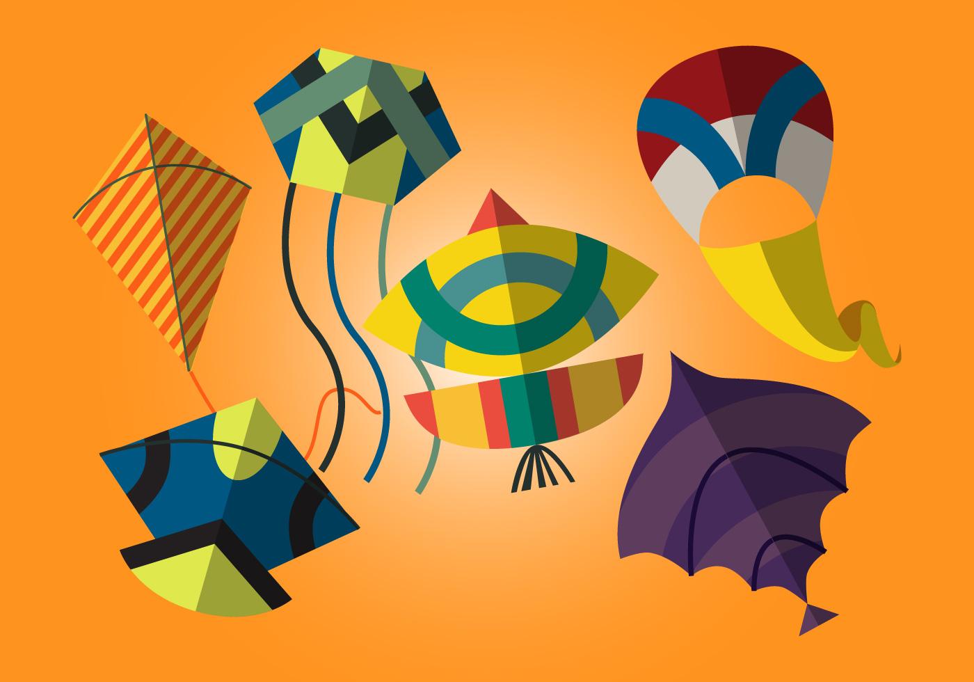 Kite Free Vector Art.