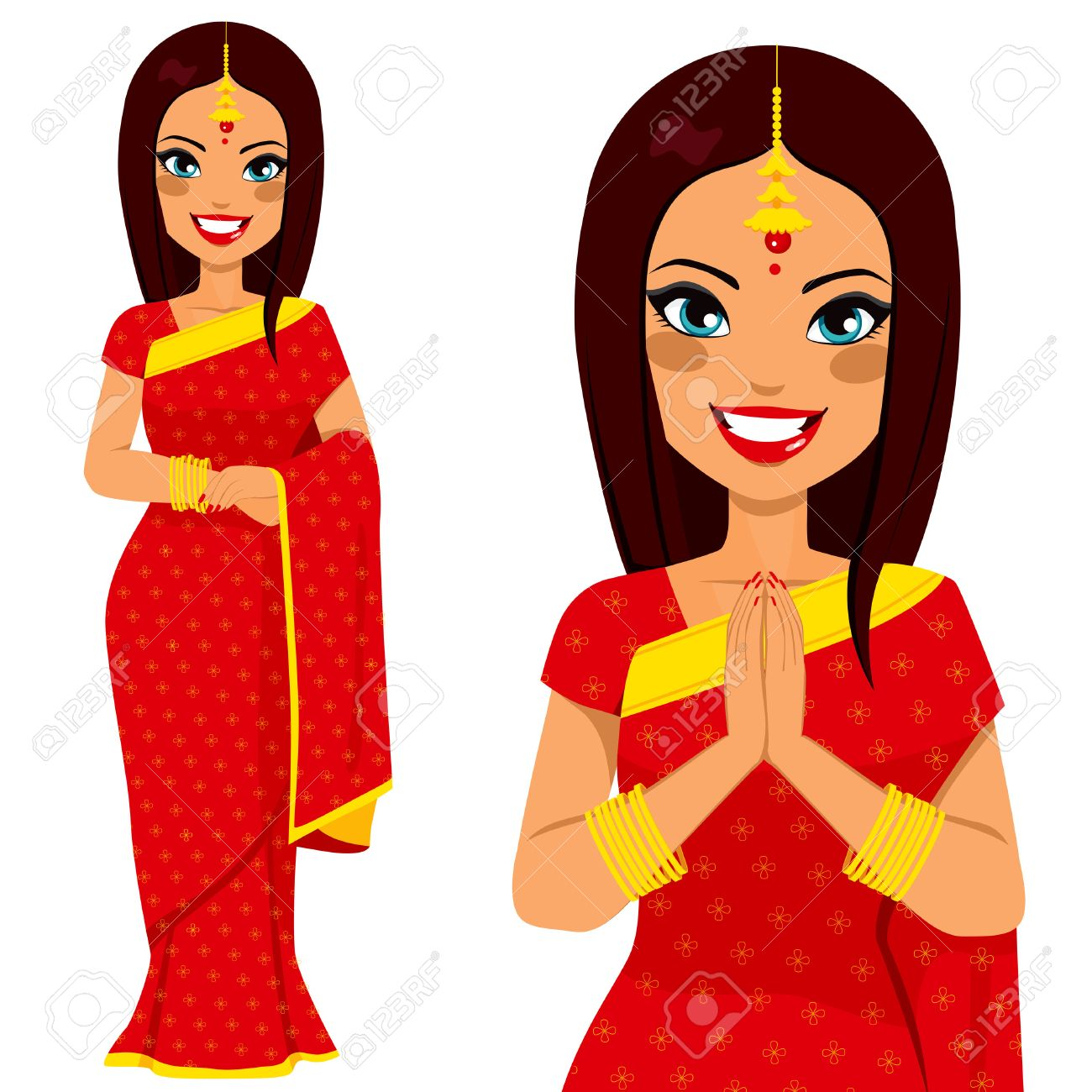 Indian lady clipart 7 » Clipart Station.