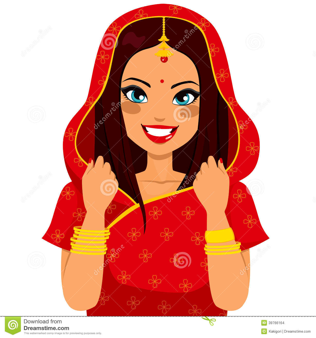 Traditional indian lady clipart 5 » Clipart Station.