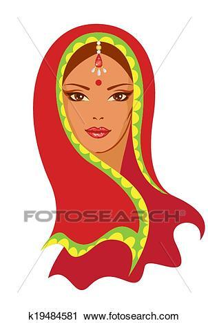 Indian lady clipart 5 » Clipart Portal.