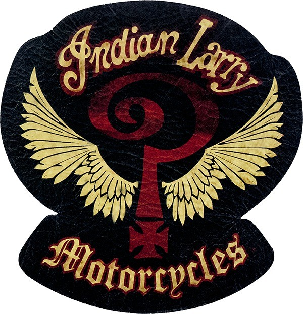 Indian Larry Winged Question Mark Genuine Leather Patch.