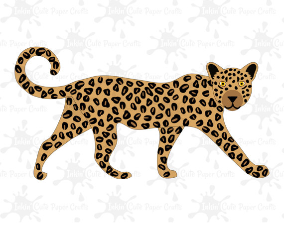African Safari Animal Clipart Lion Clipart by InkinCutePaperCrafts.