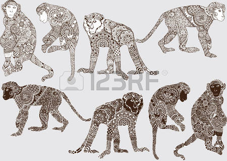 284 Indian Monkey Stock Illustrations, Cliparts And Royalty Free.