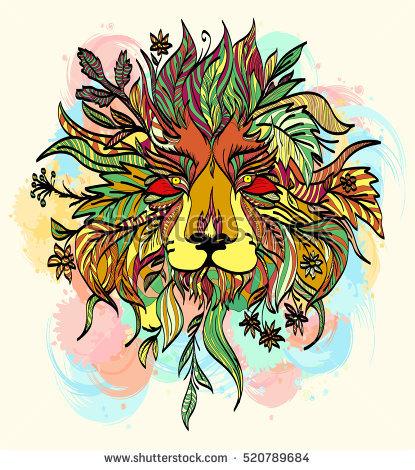 Indian Lion Stock Photos, Royalty.