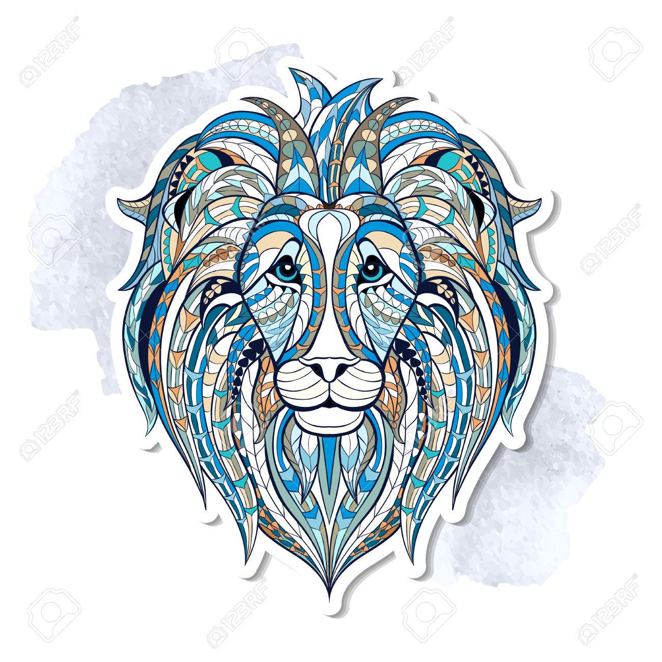 Indian lion clipart.