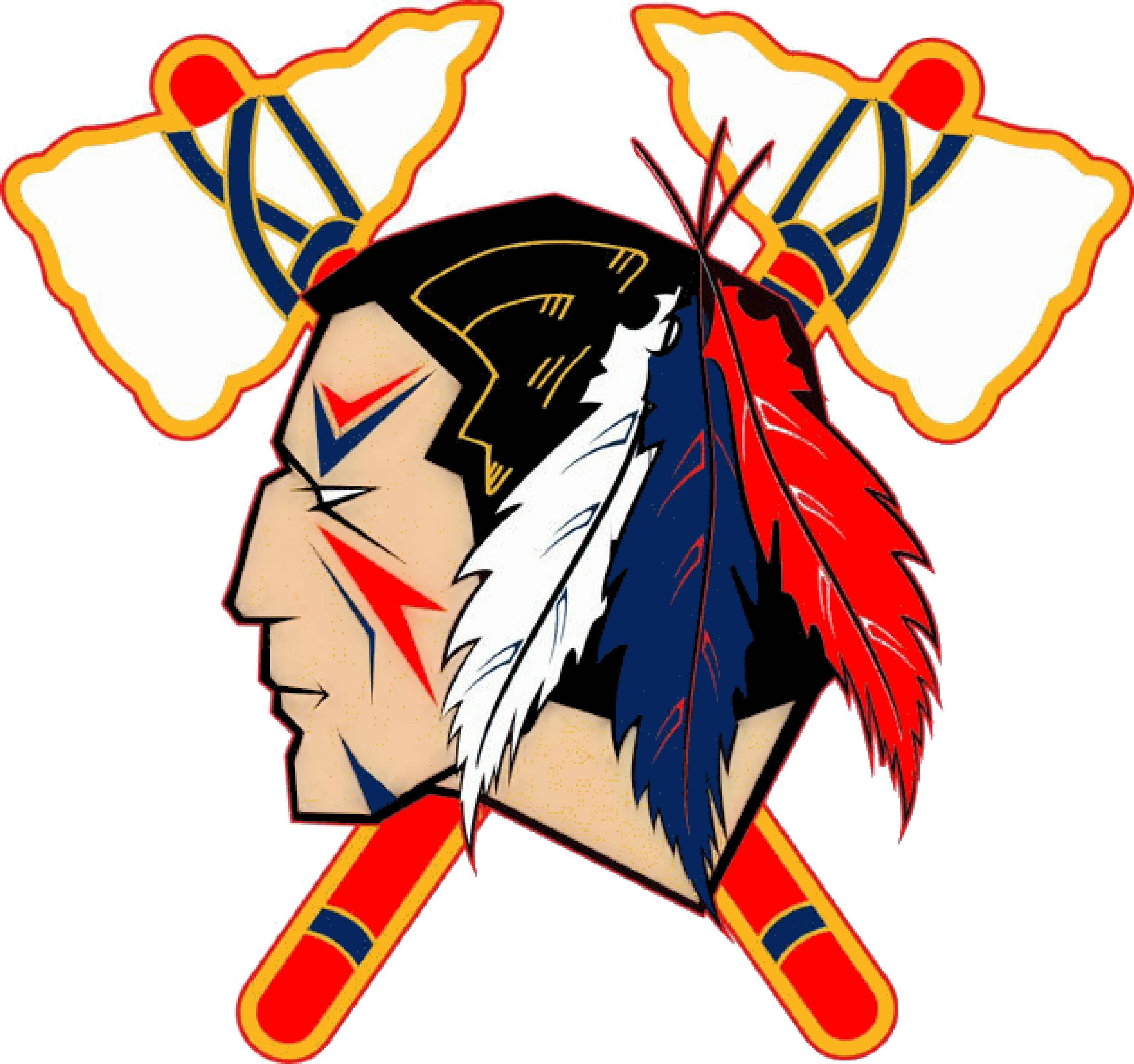 Indian Head Logo Clip Art Indians Tomahawk Image.