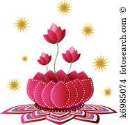 Indian lotus Clip Art Vector Graphics. 3,627 indian lotus EPS.