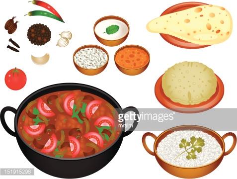 Indian Food Vector Art.